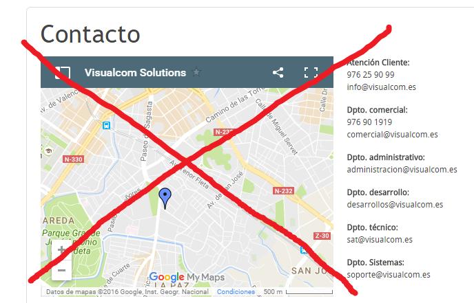 Google MAps deja de funcionar